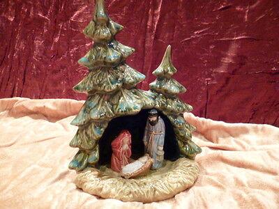 Krippe aus Keramik, Kunsthandwerk, Neuware, Weihnachten, Glaube