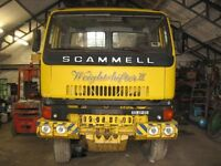 LHD Scammell S26, 6 x 6, Manual Fuel Pump, Steel Suspension, 20ft Sided Container Body