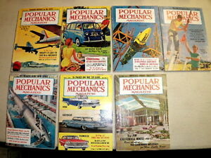 Vintage 1957 to 1997 Popular Mechanic Magazines