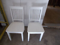 2 DIFFERENT SETS OF WHITE CHAIR