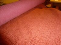 Terracotta coloured fabric suitable for upholstery