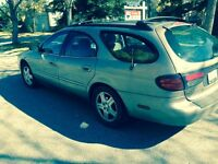 2002 Ford Taurus SEL, Station Wagon, V6, 3L, 141,000KM, Low km.