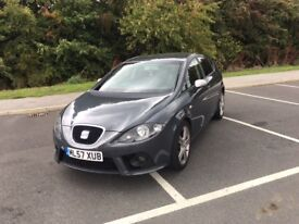 """2007/57 Seat Leon FR+ Finished in Grey +XENONS , PARKING SENSORS 18""""ALLOYS"""
