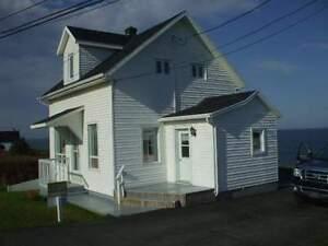 Jolie maison à vendre en Gaspésie