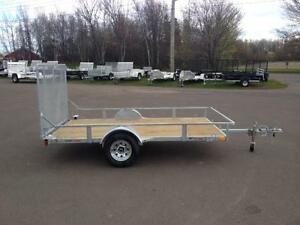 "New 2017 K-Trail 68"" x 10.25' Galvanized Utility Trailers"