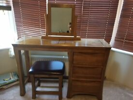 Solid Oak Dressing Table Mirror