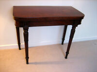 Antique Victorian Mahogany Side Table /Card Table.