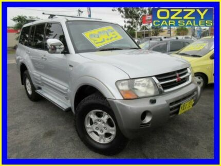 2001 Mitsubishi Pajero NM Exceed LWB (4x4) Silver 5 Speed Auto Sports Mode Wagon Minto Campbelltown Area Preview