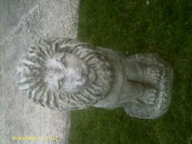 Concrete Heavy Lion Garden Ornament