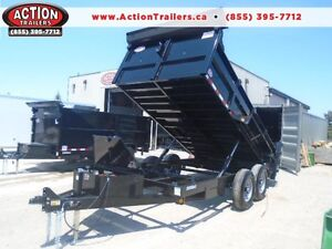 ULTIMATE DUMP TRAILER - 6 TON QUALITY 7 X 12' BED W/COMBO GATE London Ontario image 1