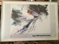 Framed 1988 Calgary Winter Olympic Posters