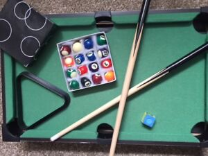 Really Nice MINI POOL TABLE INCLUDE ALL THE ACCESSORIES.