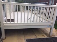 large rectangle upvc decking for static caravan with lockable gate and steps cornwall