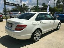 2008 Mercedes-Benz C200 Kompressor W204 Classic White 5 SPEED Semi Auto Sedan Southport Gold Coast City Preview