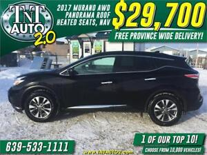 2017 Nissan Murano SV AWD-NAV-CAM! FREE PROVINCE WIDE DELIVERY!