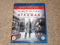 BIRDMAN BLURAY FILM ( Unexpected Virtue of Ignorance) with Micheal Keaton, blu ray/blueray/blue ray