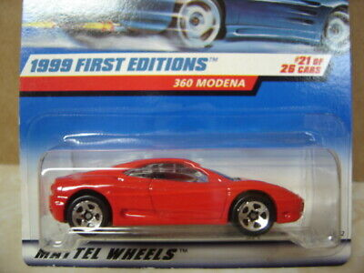 HOT WHEELS  1999 FIRST EDITION  FERRARI 360 MODENA  5sp WHEELS  RED Ferrari 360 Cars