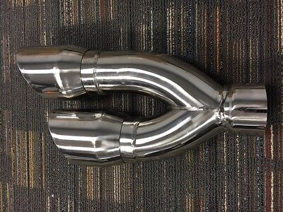 Dual Stainless Pipes - Stainless Steel Tail Pipe Exhaust Tip 3
