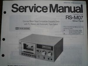 TECHNICS-RS-M07-Cassette-Tape-Deck-Service-manual-wiring-parts-diagram-RS-M24