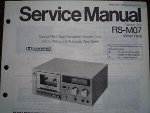 TECHNICS-RS-M07-Cassette-Tape-Deck-Service-manual-wiring-parts-diagram-RS-M24