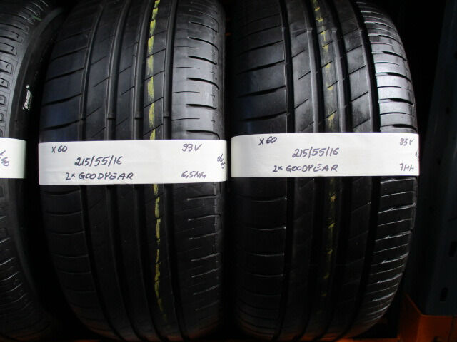 X60 2X 215/55/16 93V GOODYEAR EFFICIENT GRIP 1X6,5MM 1X7MM TREAD
