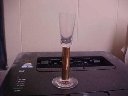 "Orrefors Crystal NOBEL Gold Stem 6"" Schnapps Glass New MINT"