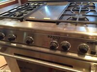 "LikeNewDCS GasStove 36""Stainless 4 Burner/Grill/Oven RDS-364GLSS"