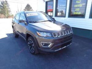 2017 Jeep Compass Limited 4x4 for only $254 bi-weekly all in!
