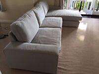 IKEA KIVIK Corner Sofa grey – 318cm long – grey – only bought 10 mths ago