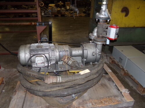 Nash Vacuum Pump Model LC320L w/ GE 15 HP Motor / 3 Phase / 230/460V