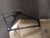 """Old 25"""" bike frame with some parts"""