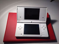 NDS lite console with adaptor+R4 cartridge+cover+case