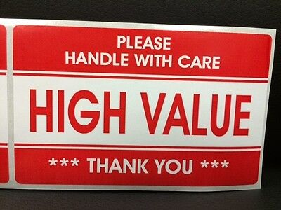 300 3.2x5.2 High Value Stickers Handle With Carethank You Stickers Fragile Ship