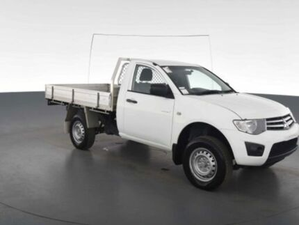 2014 Mitsubishi Triton MN MY15 GL White 5 Speed Manual Cab Chassis Virginia Brisbane North East Preview