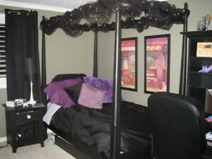 Canopy Bed, night table and dresser