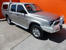 2004 Mitsubishi Triton MK MY05 GLX Double Cab Grey 5 Speed Manual Utility Broadview Port Adelaide Area Preview