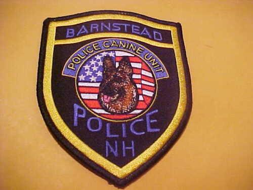 BARNSTEAD NEW HAMPSHIRE K-9 POLICE PATCH SHOULDER SIZE UNUSED