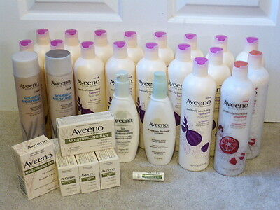 Aveeno Toiletries Lot of 17 Body Wash Face Wash Lotion New
