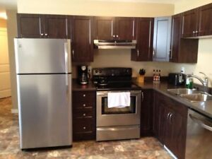 Dawson Creek-2BR furnished suite - new home, everything included