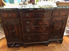 reproduction drawer and cupboard unit