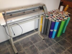 "38"" Master vinyl cutter and vinyl stock"