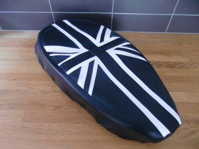 AJS Modena loose seat cover Black & White Union Flag