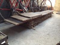 Waney edge timber