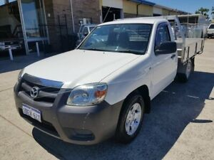 2009 Mazda BT-50 08 Upgrade B2500 DX White 5 Speed Manual Cab Chassis Wangara Wanneroo Area Preview
