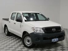 2009 Toyota Hilux TGN16R 09 Upgrade Workmate White 5 Speed Manual Dual Cab Pick-up Jandakot Cockburn Area Preview