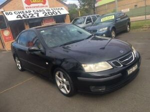 2003 Saab 9-3 MY03 ARC 2.0T Black 5 Speed Automatic Sedan Campbelltown Campbelltown Area Preview