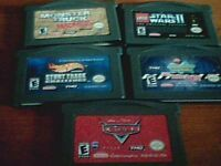 5 JEUX DE GAME BOY ADVANCE
