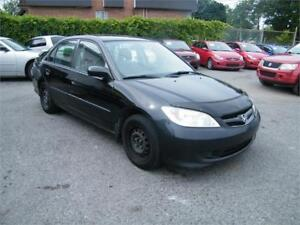 2004 HONDA CIVIC,  MAN, TRAITE ANTIROUILLE.