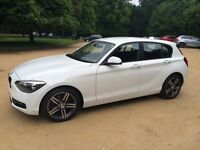 2012 62'plate BMW 1-Series 114i Sport 1.6 Petrol, 5 door, White