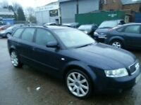 AUDI A4 AVANT 2.0 FSI 53 REG 10 MONTHS MOT LEATHER ALLOYS PARKING SENSORS